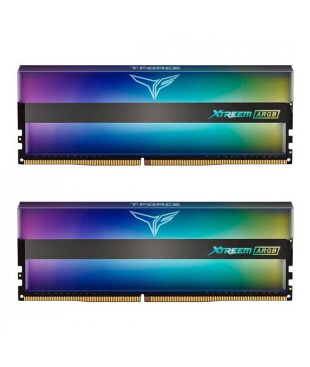 رم تیم گروپ T-FORCE Xtreem ARGB 16GB 8GB×2 3200MHz CL16