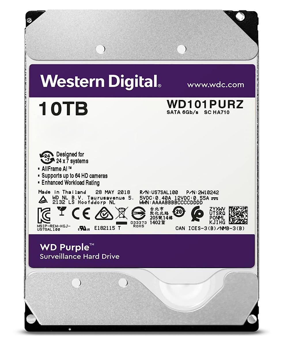 هارد اینترنال وسترن دیجیتال Purple WD100PURZ 10TB