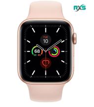 ساعت هوشمند اپل Watch 5 GPS 44mm Gold Aluminum Case With Pink Sand Sport Band