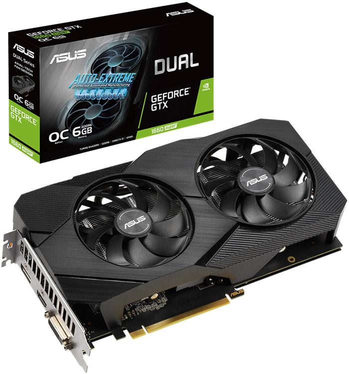 کارت گرافیک ایسوس مدل DUAL-GTX1660S-O6G-EVO حافظه 6 گیگابایت